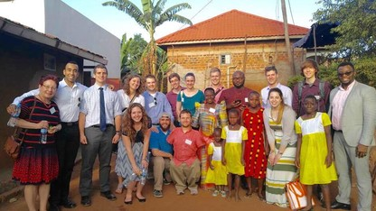 Students return after spring break work in Uganda