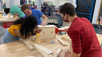Students, Innovation Studio team up to help Whiteclay Makerspace