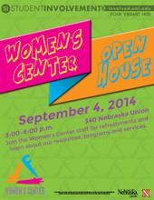 Women's Center open house is Sept. 4