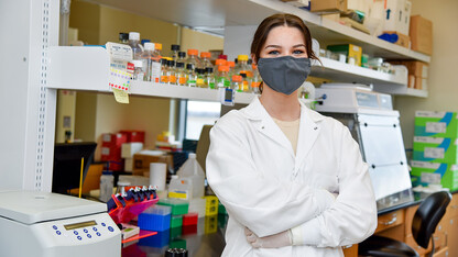 Business student assists in virus research
