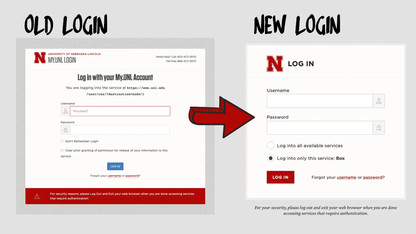 Update to change look of campus login screens