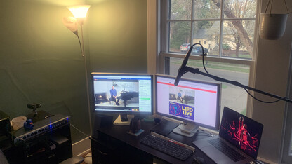 Husker Home Office serves as hub for Lied's live broadcasts