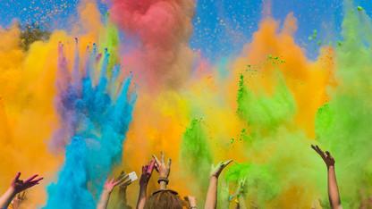 Color throws, Holi celebration April 8