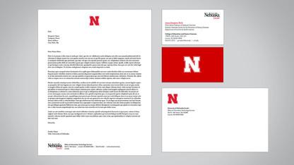 Updated stationery highlights Nebraska N