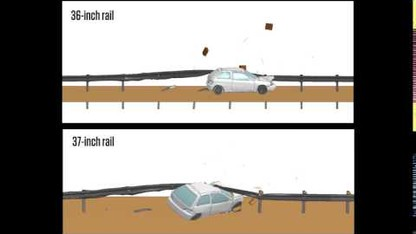 Midwest Guardrail System (Animation)