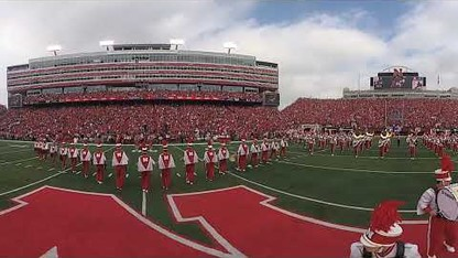 Cornhusker Marching Band Pregame in 360°