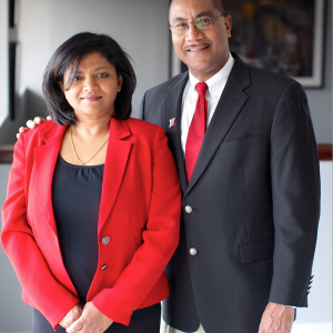 Priya Rajagopalan Francisco (left) and Joseph S. Francisco.