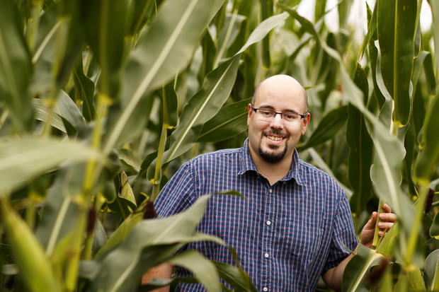 By measuring the water use of plants on an hourly or even minute-by-minute basis, Nebraska's James Schnable and colleagues hope to better understand and eventually improve how crops respond to drought.  Craig Chandler | University Communication