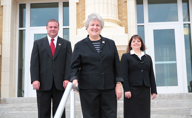 A Nebraska research team including (from left) Jim Houston, Gwen Nugent and Gina Kunz, is studying the use of coaching techniques to enhance classroom instruction.
