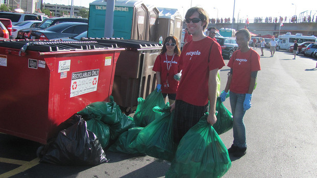 University Recycling is seeking volunteers for all home Husker football games.