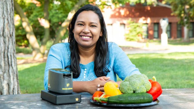 Saima Hasnin, doctoral candidate in child development and early childhood education, is leading research to better understand family child care home (FCCH) providers' preparation and serving of vegetables, and their influence on children's vegetable consu