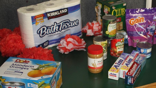 Canned foods, toothpaste, personal hygiene items, school supplies, and cleaning supplies are accepted for donation at Husker Pantry.