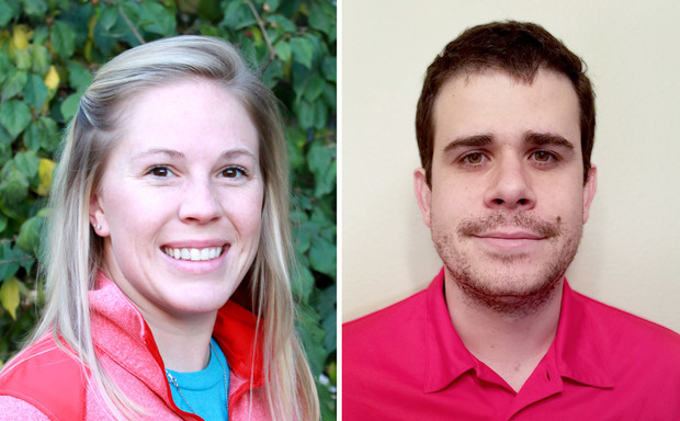 Amanda Easterly (left),and Bruno Canella Vieira are recipients of the distinguished Henry M. Beachell Fellowship.