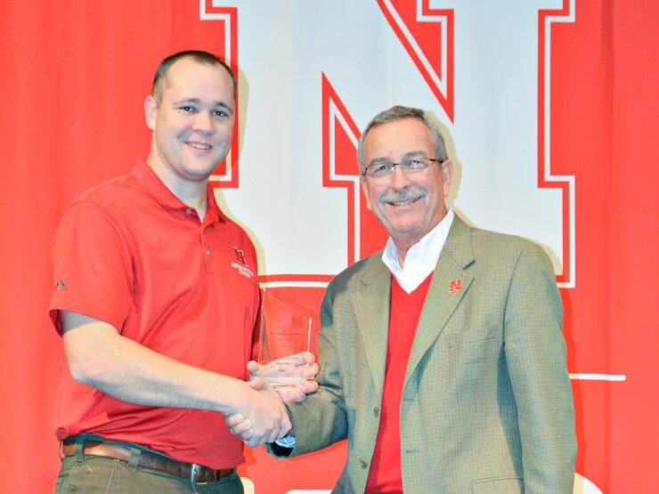 Greg Kruger, left, and Charles Hibberd, Nebraska Extension dean and director.