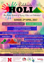 Celebrate HOLI at UNL 2017
