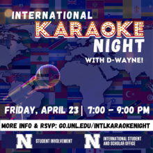 Join ISSO and Student Involvement to welcome D-Wayne for a fun night of music!  Join us in the Nebraska Union Ballroom, or via Zoom.