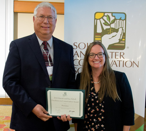 Pictured in the photo with Jasa is Clare Lindahl, chief executive officer of SWCS.