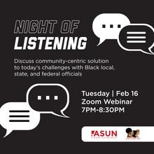 Night of Listening Poster