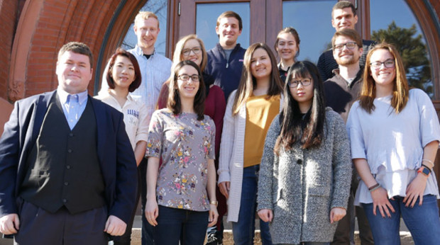 College of Architecture students named Design Futures Council scholars include (front row, from left) William Pokojski, Anne McManis, Yitao Li, Casie Hilyard, (second row) Phung Hong, Megan Michalski, Dayna Bartels, Adam Heier, (back row) Kurt Lawler, Adam Wiese, Julie Reynolds and Hasan Shurrab. Not pictures is Mei-Ling Krabbe, Jon Magruder and Caitlin Senne.