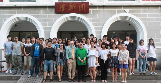 Joe Weber and his Shanghai University of Finance and Economics class