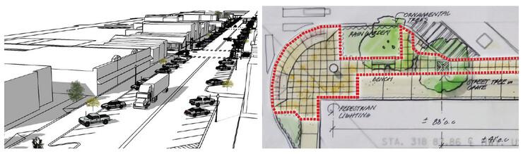 Valentine, Nebraska, proposed streetscape.