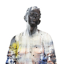 Cristina Córdova, Untitled, 2015, ceramic, resin, pigments, steel.
