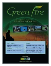 """The UNL Wildlife Club is offering a screening of the film """"Green Fire"""" at 7 p.m. Jan. 15 in Hardin Hall. The event is free and open to the public."""