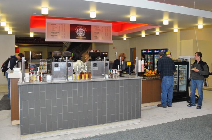 The redesigned Caffina Café inside the Nebraska Union.