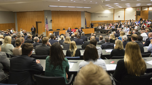 The Sept. 19 visit by U.S. Chief Justice John Roberts drew about 500 to the College of Law.