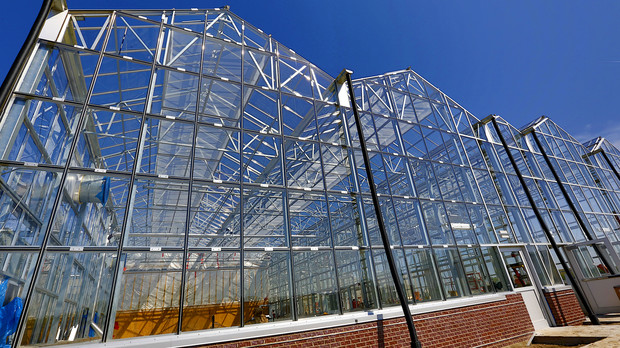 Construction of the Greenhouse Innovation Center at Nebraska Innovation Campus will finish by the end of May. An official opening is planned for the fall.