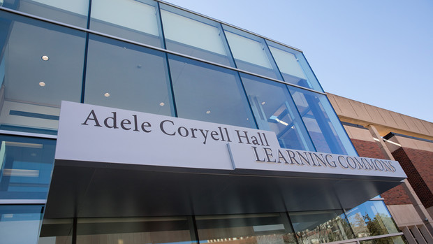 The new north entrance to UNL's Adele Coryell Hall Learning Commons.