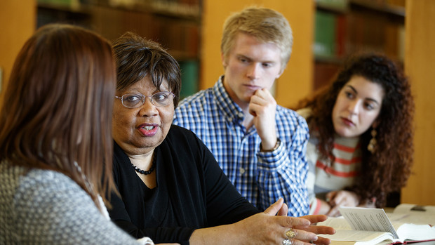 Anna W. Shavers (second from left) will serve as acting dean of Nebraska Law while Richard Moberly works as the university's interim executive vice chancellor.