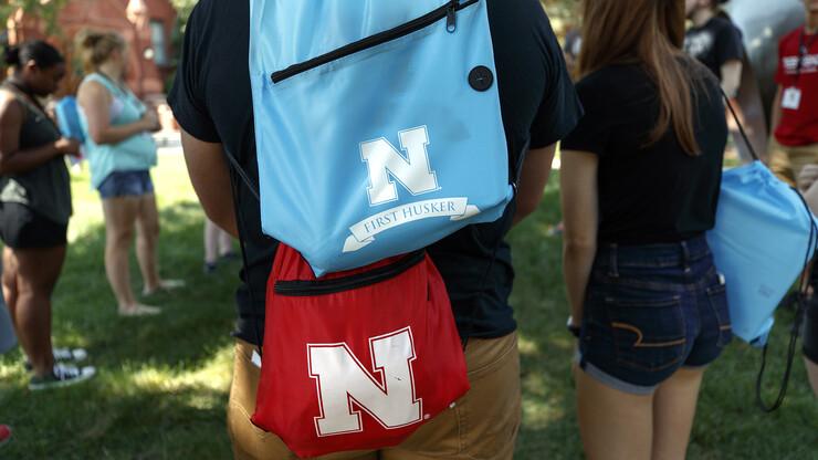 First Husker backpack
