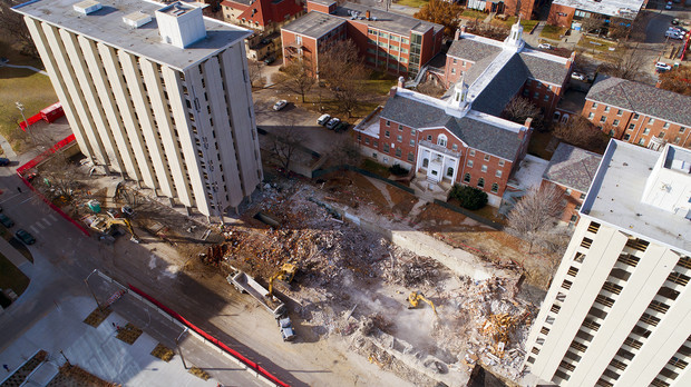 The implosion of Nebraska's Cather and Pound residence halls will take place at 9 a.m. Dec. 22. The razing will include limited access to 16 square blocks around the site from 6 a.m. to noon.