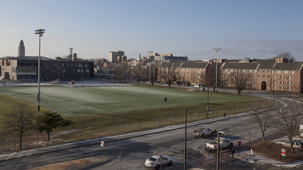 Lincoln's skyline after the removal of Cather and Pound halls.