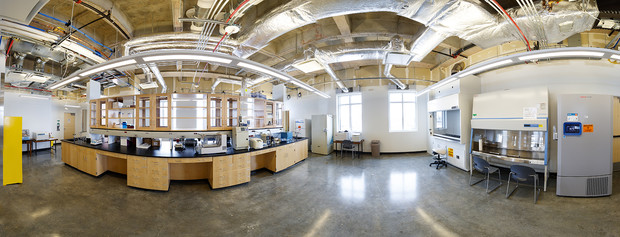 Panorama image from inside Nebraska's new Biotech Connector facility.