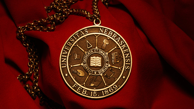 Nebraska's chancellor wears this medallion during all commencement exercises.