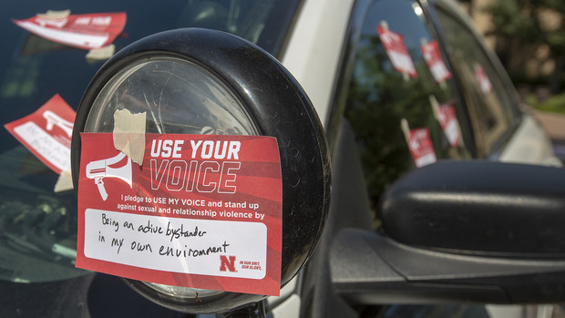 When all three Cover the Cruiser events are complete, the pledge cards will be put on display in the Nebraska Union.