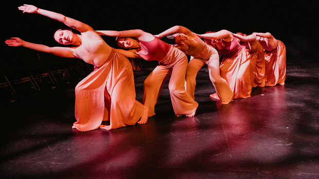 Dance students perform during a 2019 recital in the Johnny Carson Theatre.