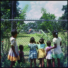 """Outside Looking In, Mobile, Alabama, 1956,"" by Gordon Parks, printed 2013, archival pigment print, 28 x 28 in."