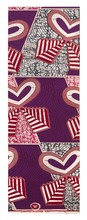 Heart of Barack, introduced 2007, manufactured by Vlisco, Netherlands; Dutch Super Wax on cotton, 48 x 12 inches.