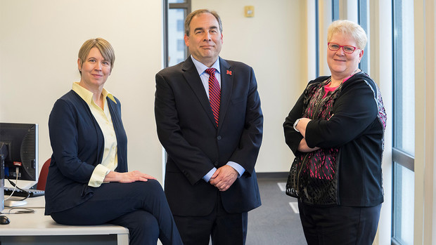 (From left) Denise Bulling, senior research director at the University of Nebraska Public Policy Center; Mario Scalora, director of the NU Public Policy Center; and Jolene Palmer, school safety and security director at the Nebraska Department of Education.