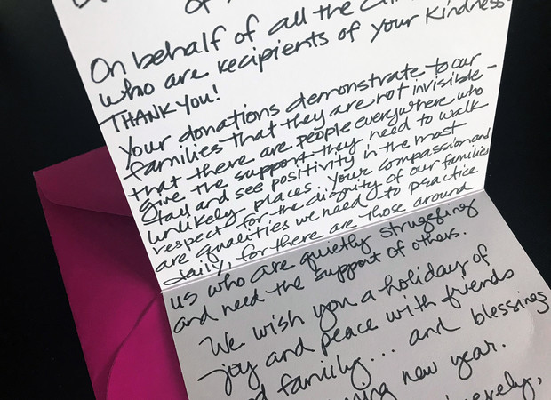 Clinton Elementary School thank you note