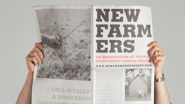 """Visitors can take home a copy of the """"New Farmers"""" newspaper, which addresses work, food and farming on the Great Plains."""