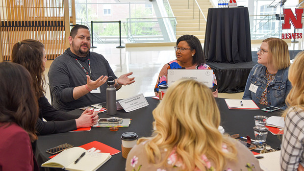 Mark Barrera, appointed to lead the DREAMBIG Academy, spoke on the program at Employer Partners Day at the College of Business.