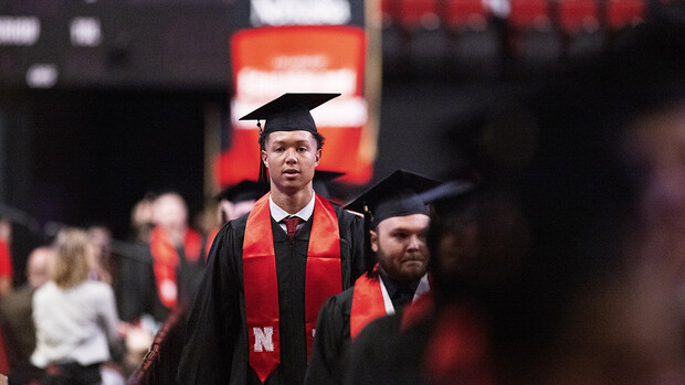 Isaiah Roby returned to the Pinnacle Bank Arena floor Aug. 14. The center for the Oklahoma City Thunder and former Husker basketball player earned a Bachelor of Science in Business Administration.