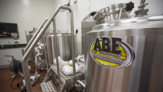 The brewing equipment is part of the university's Food Innovation Center, which is led by the Department of Food Science and Engineering.