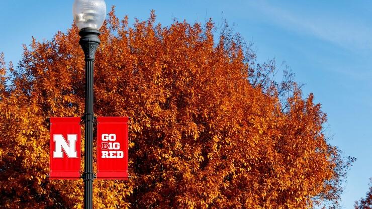 Fall tress on Nebraska campus
