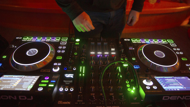 A member of the UNL DJ Club controls the beat during the Rainbow Ball on Oct. 4. The event was launched in 2018 and earned a campuswide programming honor.