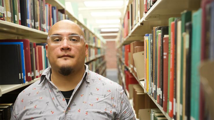 Ángel García, doctoral student in Nebraska's creative writing program, is a finalist for the 2019 PEN Open Book award.